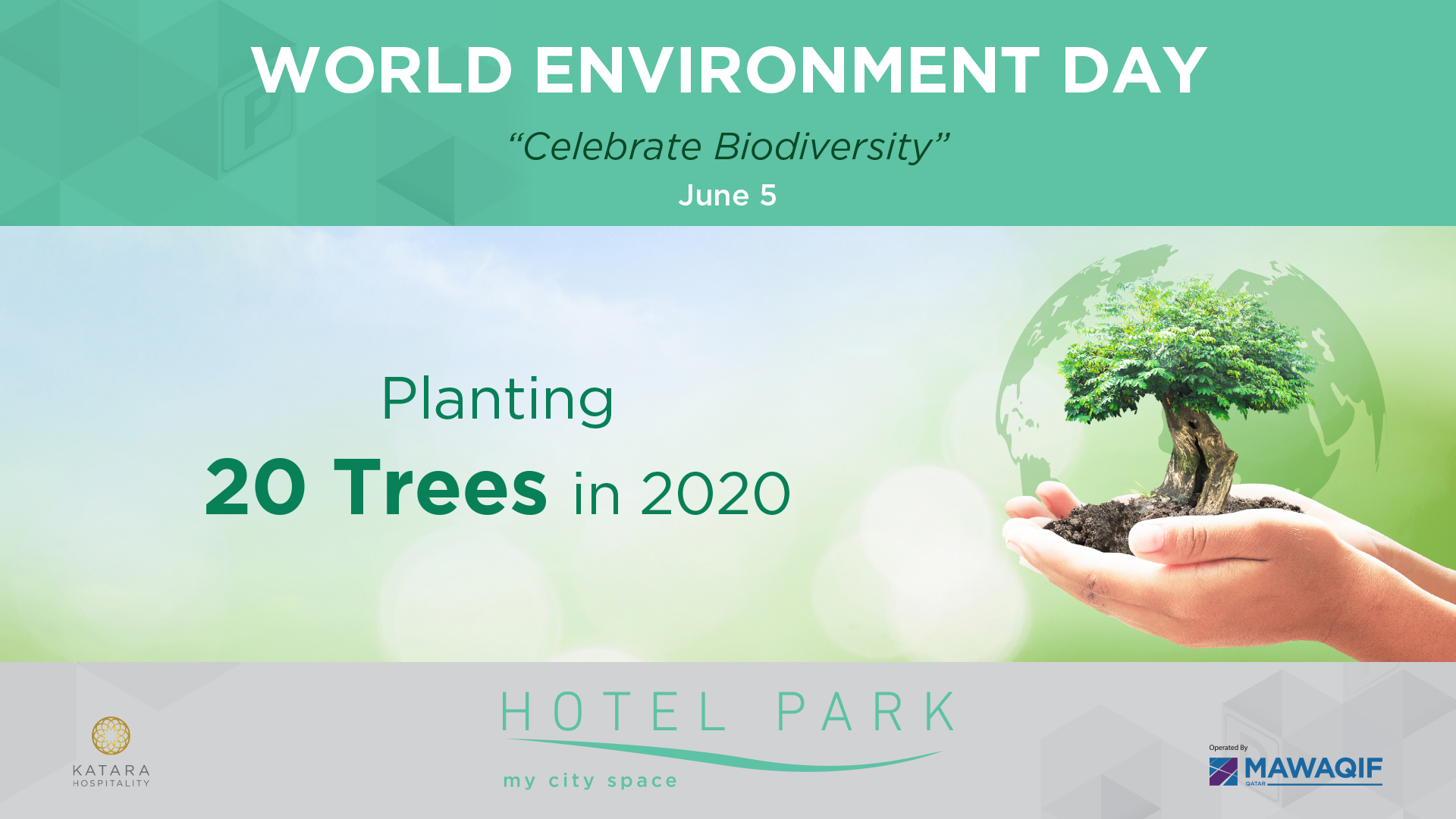 "World Environment Day ""Celebrate Biodiversity"" Planting 20 Trees in 2020"