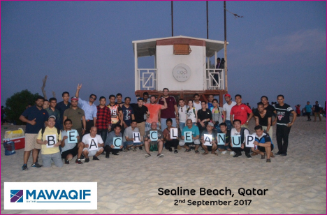 Mawaqif Qatar Beach Clean Up  and Team Building 2017