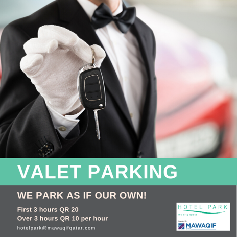 "Valet Parking ""We park as if our own."""