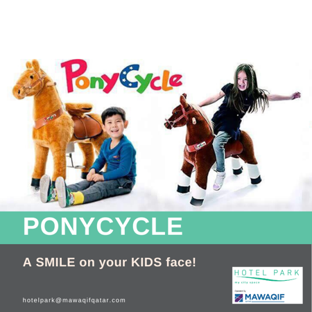 A smile on your kid's face!...through this ponycycle ride.